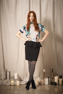 Christa Peplum Skirt