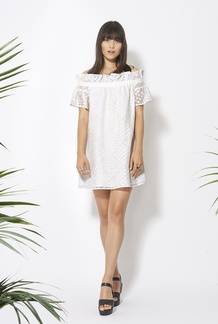 Dion off the shoulder ruffle dress