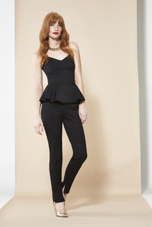 Nica Peplum Top