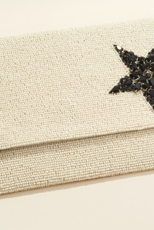 Star Beaded Clutch