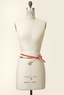 Coral/Gold Double Wrap Belt