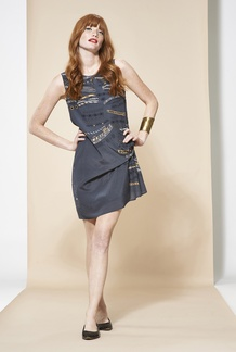 Jodie Jet Blouson Dress