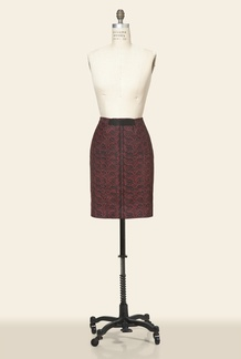 Janelle Seamed Pencil Skirt