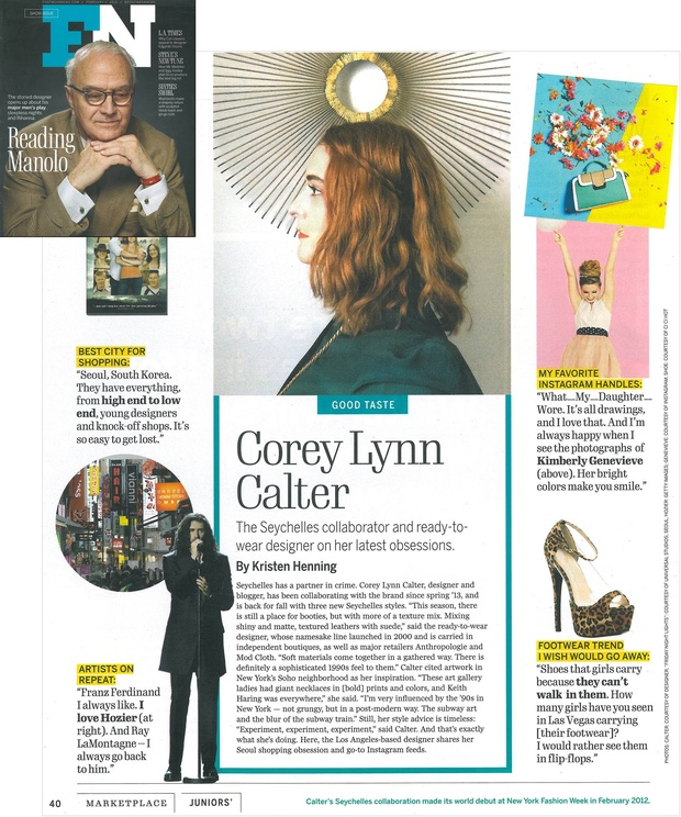 Footwear News feature on Corey