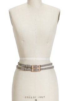 Double Buckle Belt Gray