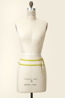 Lemon/Gold Double Wrap Belt